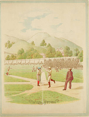 Our National Sport Photograph - Wild Pitch Our National Game Series 1887 by Ricky Barnard