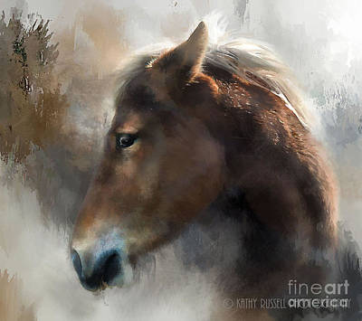 Wild Pony Art Print by Kathy Russell