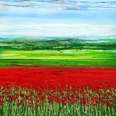 Wild Poppies Corbridge Northumberland 2009 Art Print by Mike   Bell