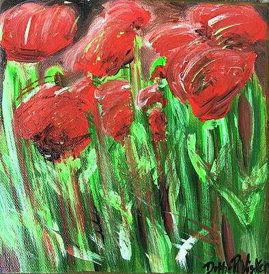 Painting - Wild Poppies  by Dottie Phelps Visker