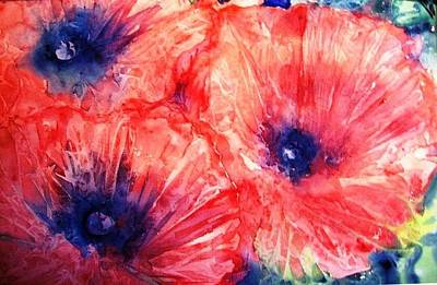 Art Print featuring the painting Wild Poppies by Trudi Doyle