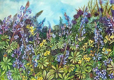Painting - Wild Prairie Lupine by Helen Klebesadel