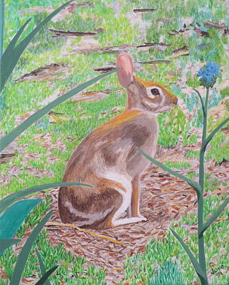 Painting - Wild Rabbit by Hilda and Jose Garrancho