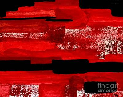 Painting - Wild Red Abstract by Marsha Heiken