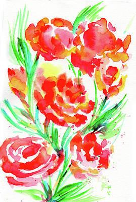 Painting - Wild Reds  by Nada Meeks