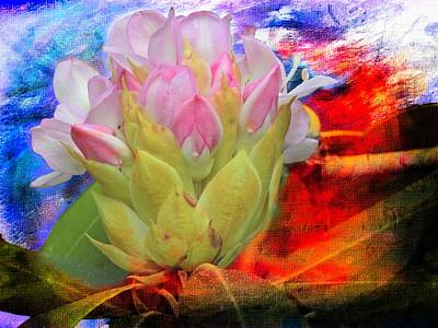Digital Art - wild Rhododendron by Rusty R Smith