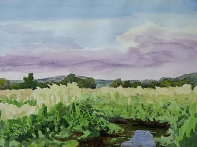 Wild Rice Field Art Print by Bethany Lee