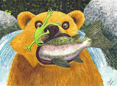 Salmon Painting - Wild Ride by Catherine G McElroy