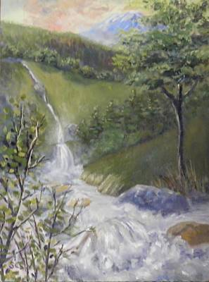 Painting - Wild River Below Mount Hood by Sharon Casavant