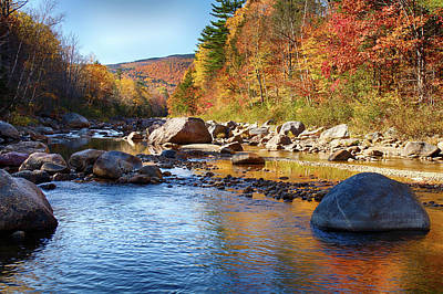 Photograph - Wild River View Of Scenic Maine Colors by Jeff Folger