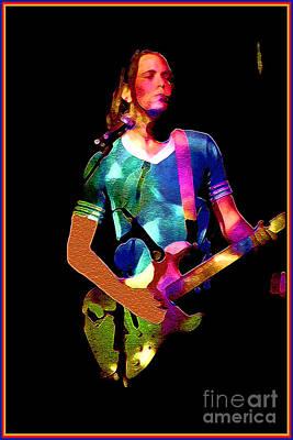 Wild Rock 'n Roll Art Print by Linda  Parker