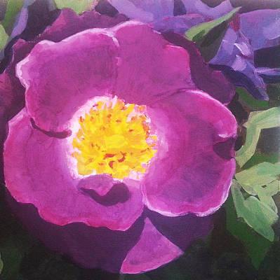 Purple Flowers Painting - Wild Rose by Angelina Sofronova