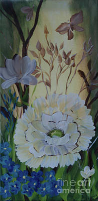 Painting - Wild Rose In The Forest by Donna Brown