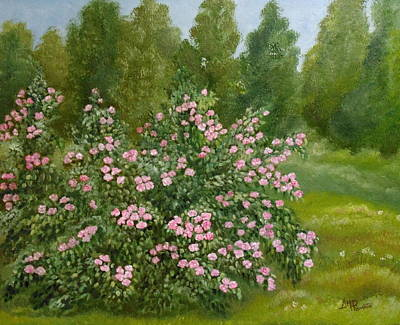 Martinez Painting - Wild Roses by Angeles M Pomata