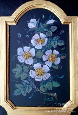 Painting - Wild Roses by Anna Folkartanna Maciejewska-Dyba