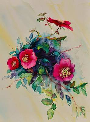 Painting - Wild Roses by Barbara Pease