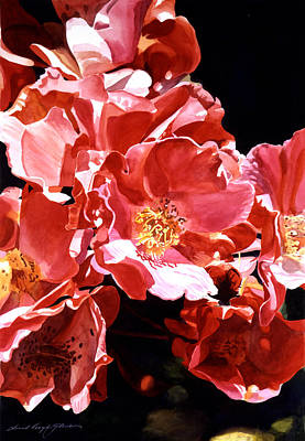 Most Popular Painting - Wild Roses by David Lloyd Glover