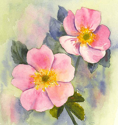 Painting - Wild Roses - Glacier by Marsha Karle