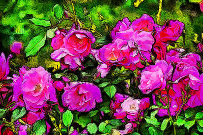 Wild Roses Print by Jean-Marc Lacombe