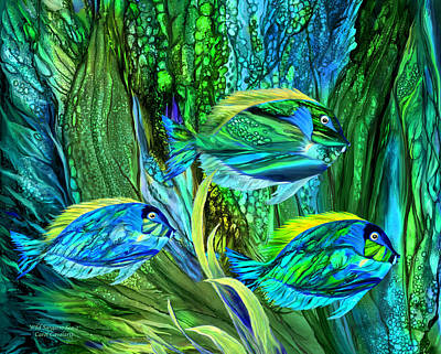Mixed Media - Wild Sargasso Sea 2 by Carol Cavalaris