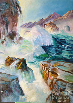 Wild Sea Art Print by Anisha Shah