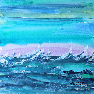 Painting - Wild Sea by Jutta Maria Pusl