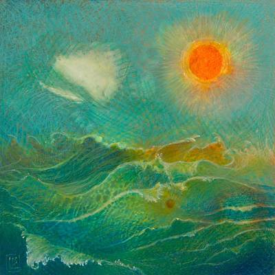 Abstract Seascape Painting - Wild Sea by Lynn Bywaters