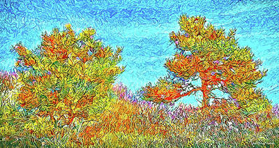 Digital Art - Wild September Pines - Colorado by Joel Bruce Wallach
