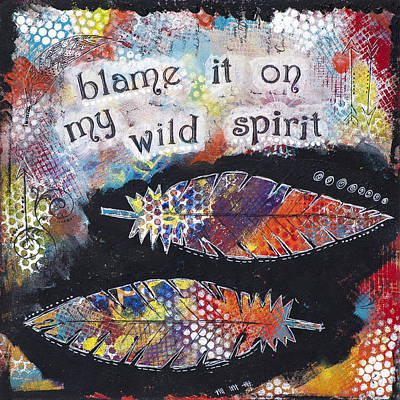 Mixed Media - Wild Spirit by Stanka Vukelic