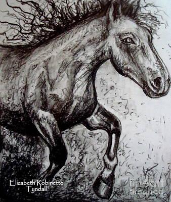 Painting - Wild Stallion by Elizabeth Robinette Tyndall