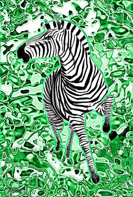 Mixed Media - Wild Stripes by Tom Ryan