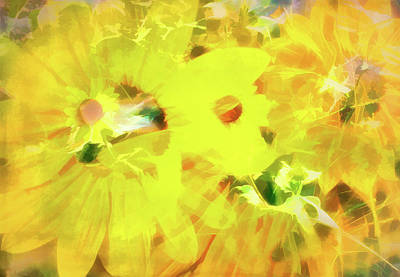 Digital Art - Wild Sunflower Chaos by Aliceann Carlton