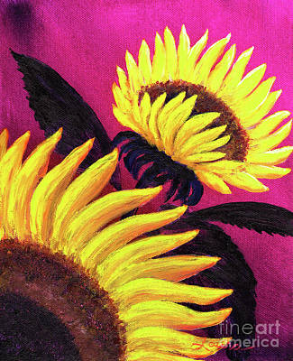 Sunflower Painting - Wild Sunflowers by Laura Iverson