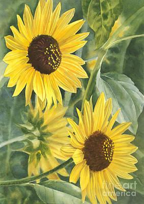 Sun Flower Painting - Wild Sunflowers by Sharon Freeman