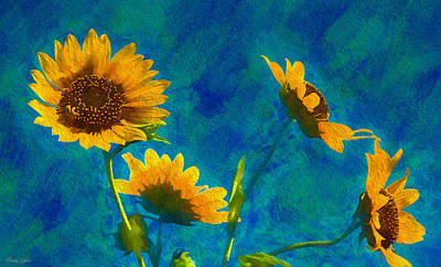 Photograph - Wild Sunflowers Singing by Anna Louise