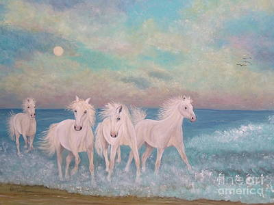 Painting - Wild Surf Dancers by Patti Lennox