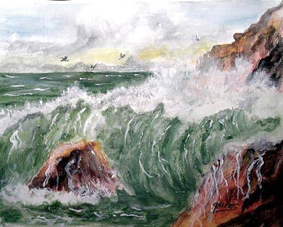 Painting - Wild Surf Waves by Carol Grimes