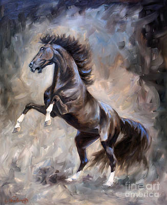 Wild Mustang Painting - Wild Thing by Jeanne Newton Schoborg