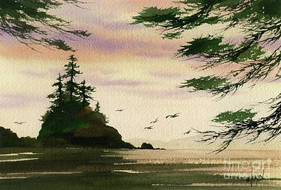 Painting - Wild Tideland Sunset by James Williamson