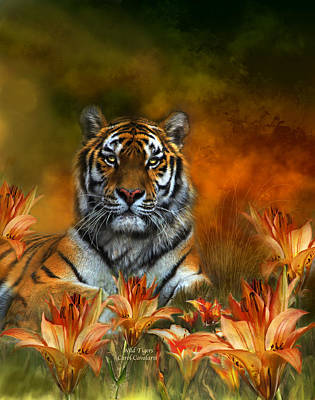 Tiger Mixed Media - Wild Tigers by Carol Cavalaris