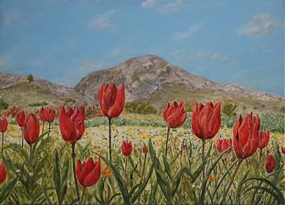 Wild Tulips In Central Crete Original
