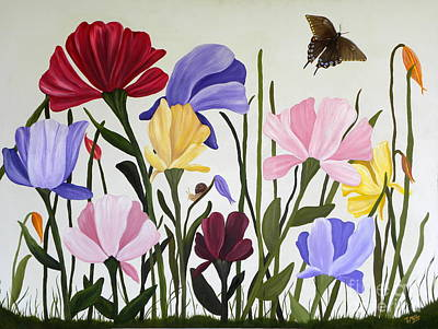 Painting - Wild Tulips by Terri Mills