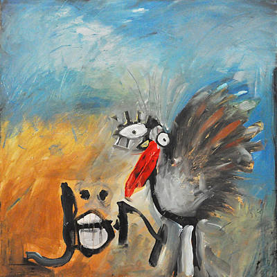 Painting - Wild Turkey By Jon by Tim Nyberg