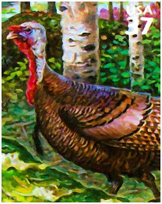Meleagris Painting - Wild Turkey by Lanjee Chee