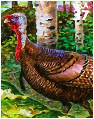 Wild Turkey Art Print by Lanjee Chee