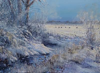 Painting - Wild Turkeys by Valentin Katrandzhiev