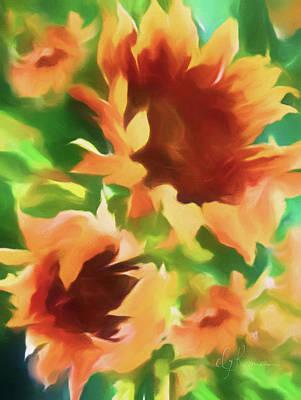 Wild Vibrant Sunflowers Art Print by Georgiana Romanovna