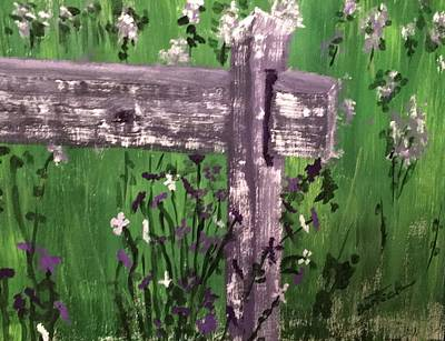 Painting - Wild Violets by David Bartsch