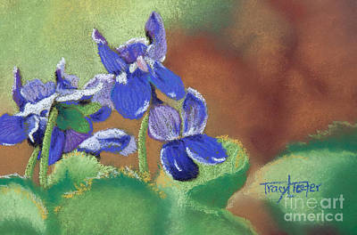 Pastel - Wild Violets by Tracy L Teeter
