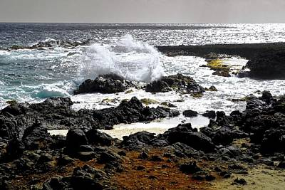 Photograph - Wild Waters And Lava Rocks by Kirsten Giving